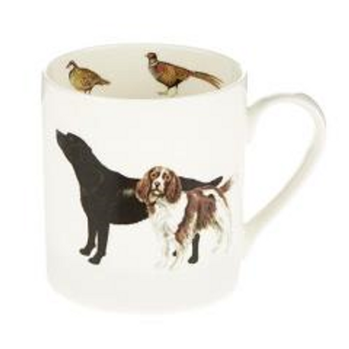 Orchid Design Labrador And Springer Mug
