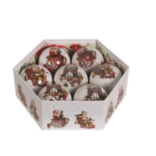 7 Piece Santa Bauble Gift Set