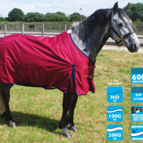 Legacy Turnout Rug - Red - 100g