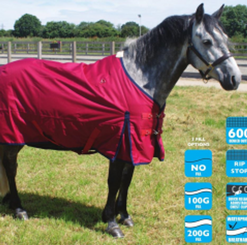 Legacy Turnout Rug - Red - 200g