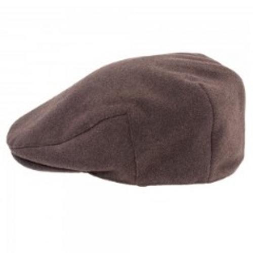 Heather Hats Joseph Melton Wool Mix Flat Cap Brown