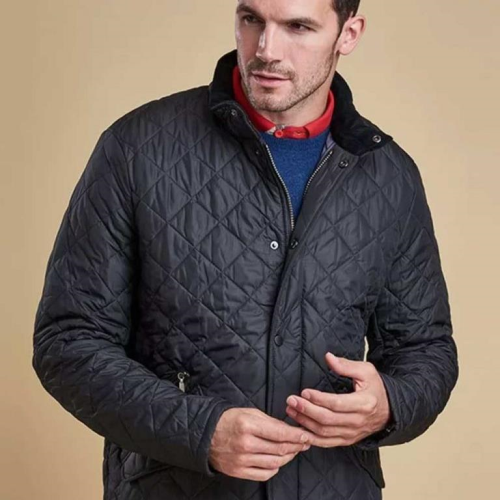 Barbour Chelsea Sports Quilted Jacket Navy