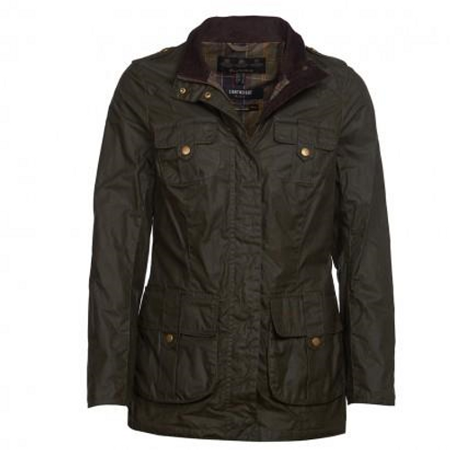 Barbour Flowerdale Wax Olive/Classic