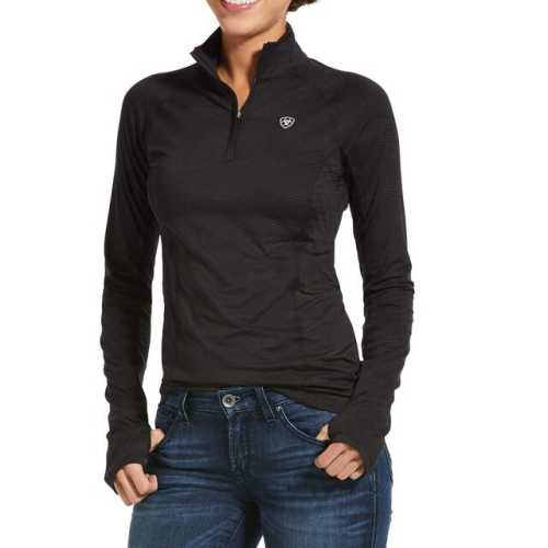 Ariat Lowell 2.0 1/4 Zip - Black Reflective
