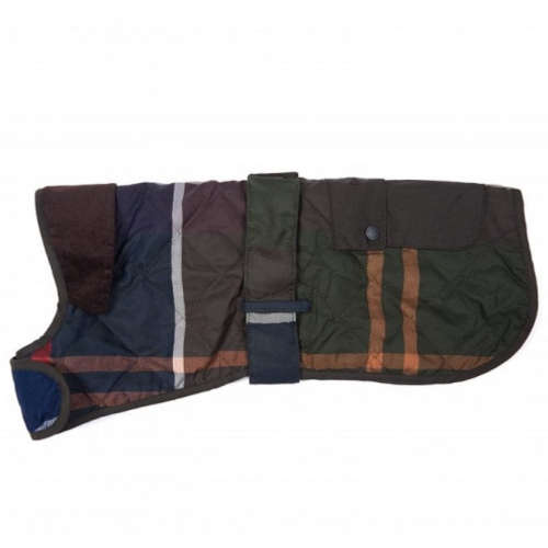 Barbour Quilted Tartan Dog Coat Classic