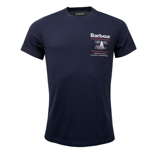 Barbour Reed Tee Navy