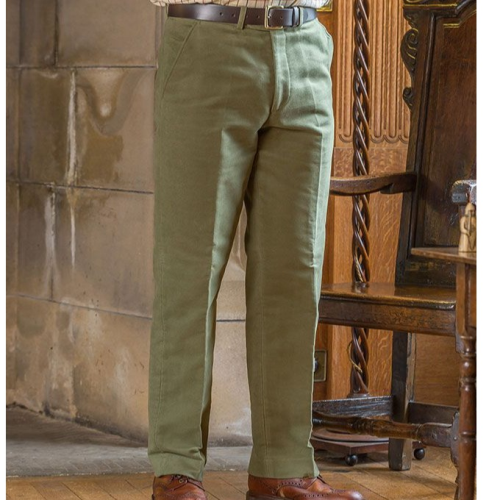 Hoggs of Fife Monarch Moleskin Mens Trousers - Lovat