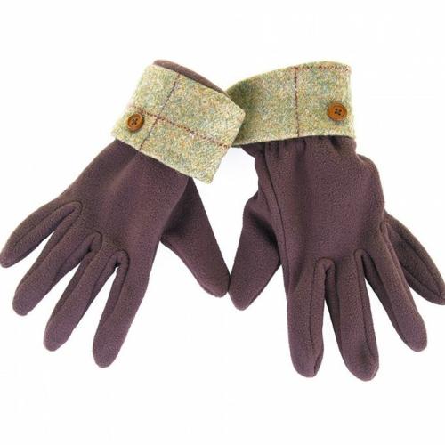 Allegra Ladies Fleece Glove/Tweed Cuff ZG001