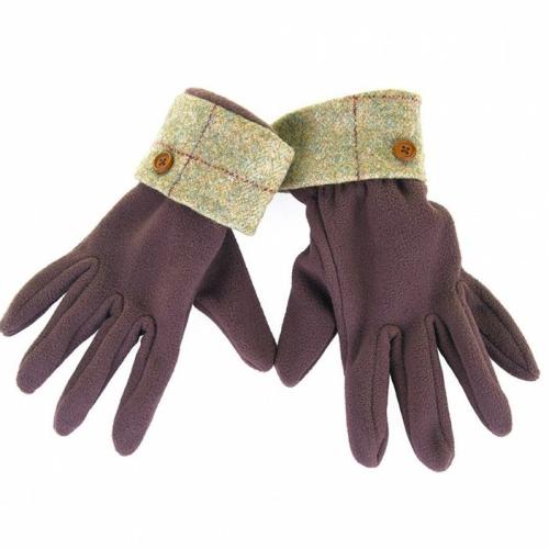 Allegra Ladies Fleece Glove/Tweed Cuff ZG001 - M/L