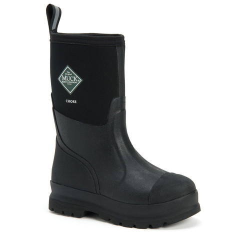 Muck Boots Chore All Condition Unisex Work Boots - Black, Mid