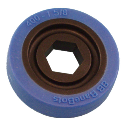 "BaneBots Wheel, 1-5/8"" x 0.4"", 1/2"" Hex Mount, 50A, Black/Blue"