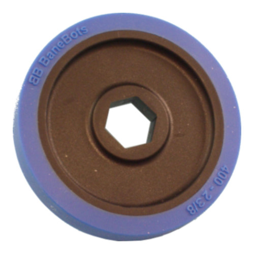 "BaneBots Wheel, 2-3/8"" x 0.4"", 1/2"" Hex Mount, 50A, Black/Blue"