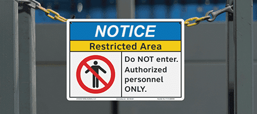 Facility Safety Signs Experience