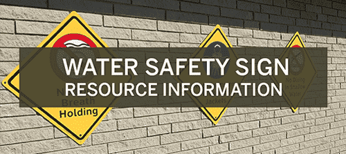Water Safety Sign Resource Information Experience