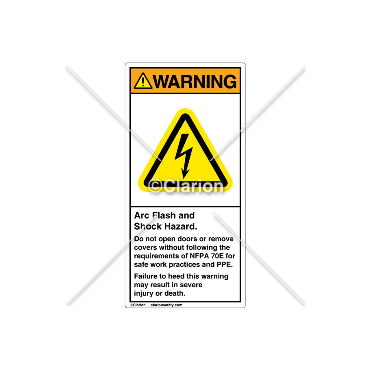 Nfpa warning label