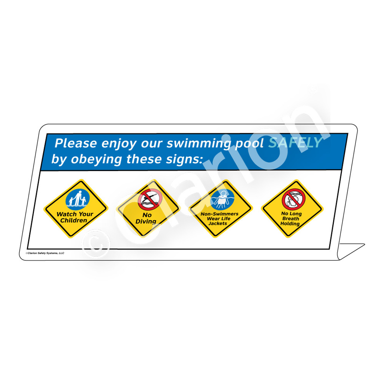 4-Placard Please Enjoy Our Swimming Pool Sign (WSS1767-e)