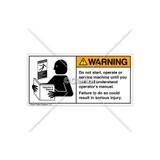 Warning/Do Not Start Label (6000-GRWHPG Wht)