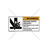 Warning/Moving Parts Present Label (1191-PEWHPI)