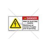 Danger/Risk of Electric Shock Label (H6010-BDDHP-62)