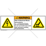 Warning/Risk of Electrical Shock Label (H6010/1024-286WHPL)