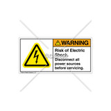 Warning/Risk of Electric Shock Label (H6010-448WHPU)