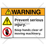 Warning/Prevent Serious Injury Sign (F1253-S2SW2)