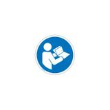 Consult Operators Manual Label (IS6126-PE)