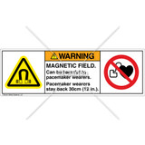 Warning/Magnetic Field Label (H6048/6063-NCWHPI)