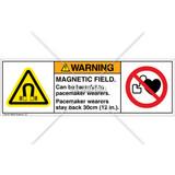 Warning/Magnetic Field Label (H6048/6063-NCWHPI)
