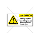 Caution/Heavy Object Label (H6014-RGCHTL)