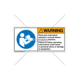 Warning/Read And Understand Label (H6126-202WHPT)