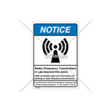 Notice/Radio Frequency Transmitters Label (6027-93NVB-SC)
