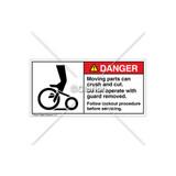 Danger/Moving Parts Can Crush Label (1090-02DHPL Wht)