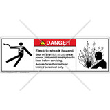 Danger/Electric Shock Hazard Label (5025/4005-F61DHPS)