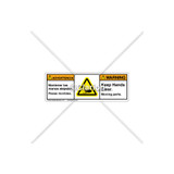 Warning/Keep Hands Clear Label (BSH1105-PRWHPU)