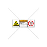 Warning/Ultraviolet Radiation Label (H6123/6060-631WHPU)