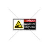 Danger/Pinch Points Label (C152-01)