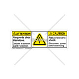 Caution/Hazardous Voltage Label (BFH6010-S8CHPT)