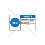 Notice/Reliable Safety Circuit Label (8520-01NH2-45)