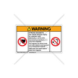 Warning/Strong Magnets Label (C7002-01)