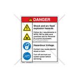 Danger/Shock and Arc Flash Label (HMS-586DVP-46)