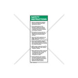 Safety Instructions 1-8 Label (7002-DRSVP-58)