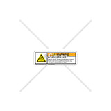 Warning/Hazardous Voltage Label (D129158-E Rev B)