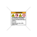 Warning/Strong Magnet Label (HMS-823WHP-CR)