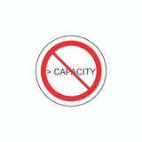 Prohibition Symbol/Greater than Capacity Label (C10789-02)