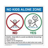 No Kids Alone Zone Sign (WS1050-2)