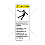 Caution/Risk of Electric Shock Label (5025-Y49CVPG)