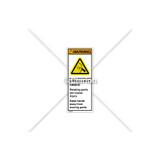 Warning/Entanglement Hazard Label (H5161-U81WVPI)