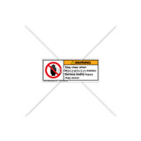 Warning/Stay Clear Label (H6008-T51WHPI)