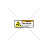 Warning/Pinch Point Label (H1014-267WHPI)